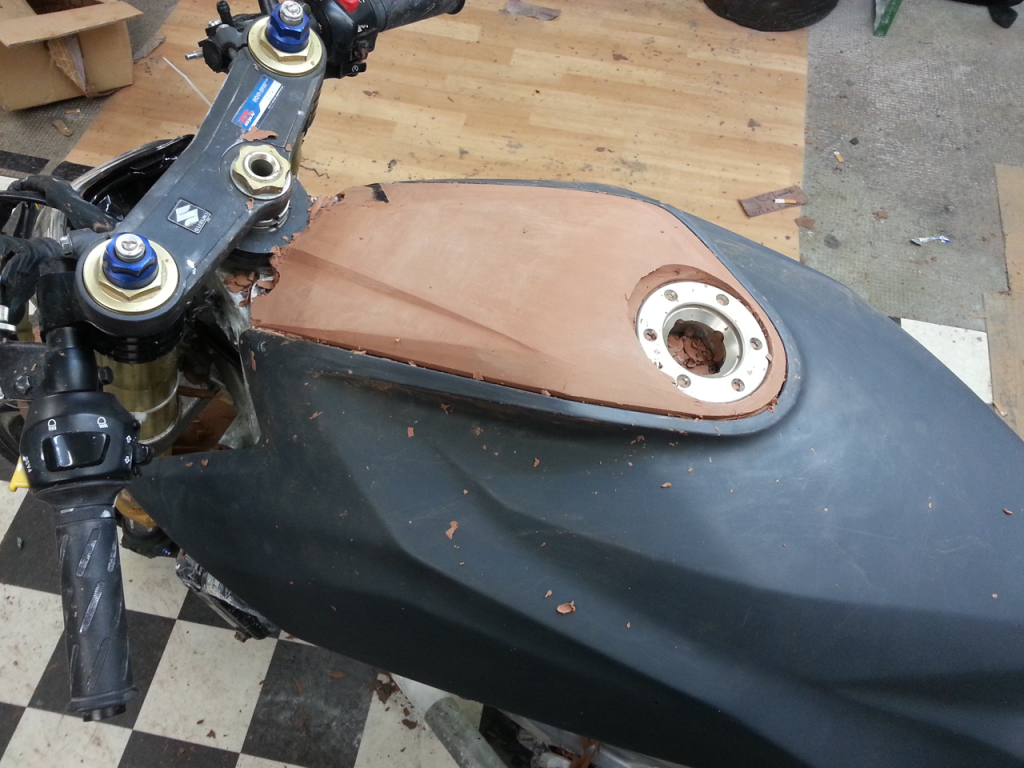 Roughing in the airbox cover