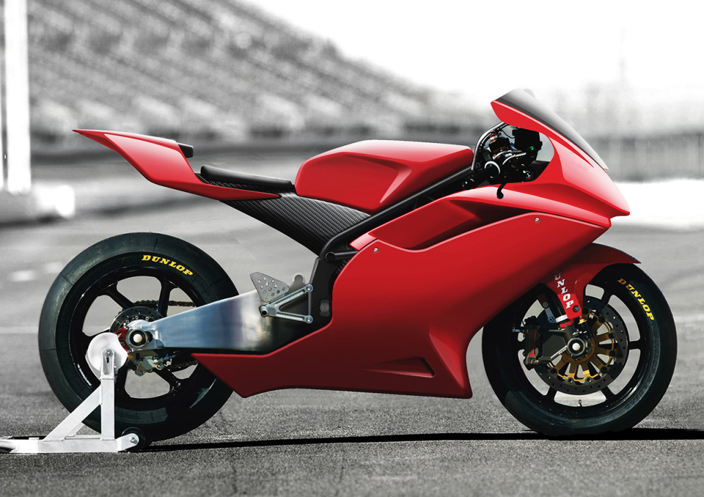 2Moto CEV race bike side view rendering
