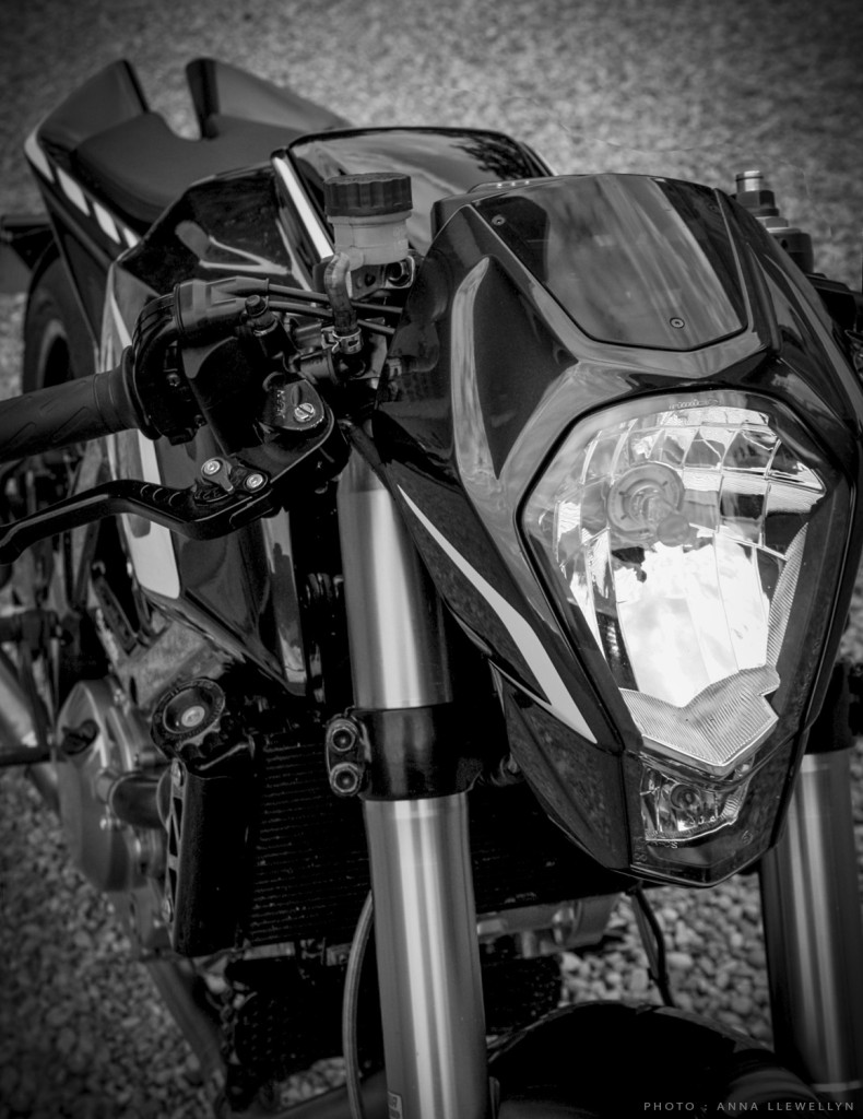 SV650 headlight detail