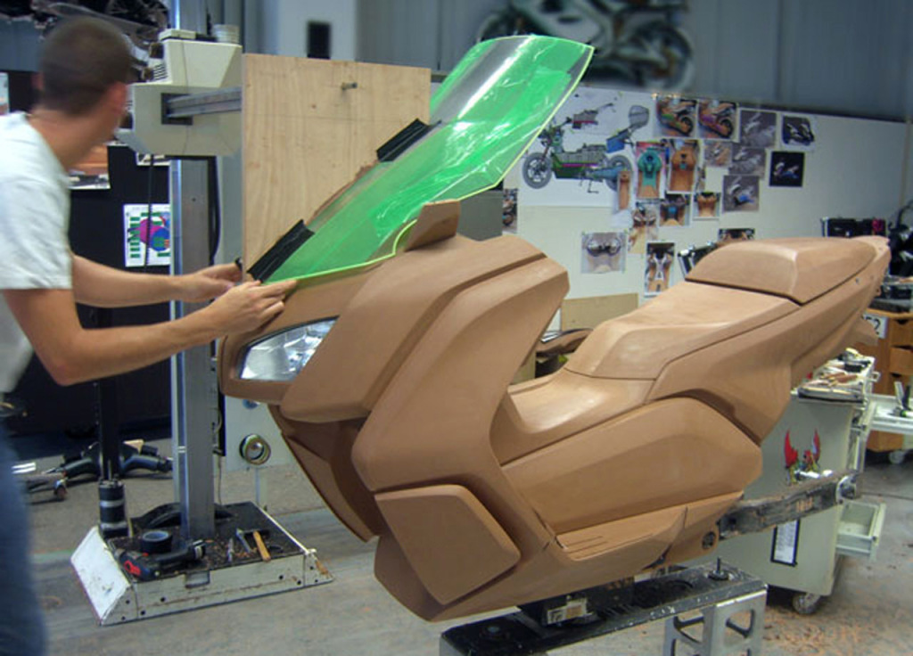 BMW C-Evolution electric scooter clay model
