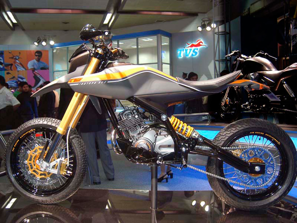 TVS Isotope 200 concept left side view
