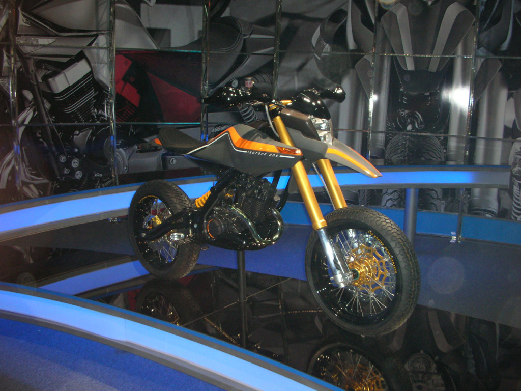 TVS Isotope 200 concept front three quarter view