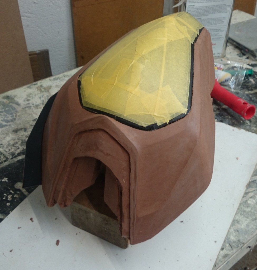 Clay headlight ready for moulding